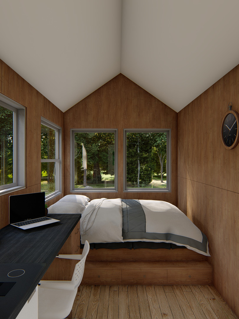 Getaway Tiny House Living Space by Big Tiny