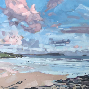 Sun Setting Over Polzeath (Sold)