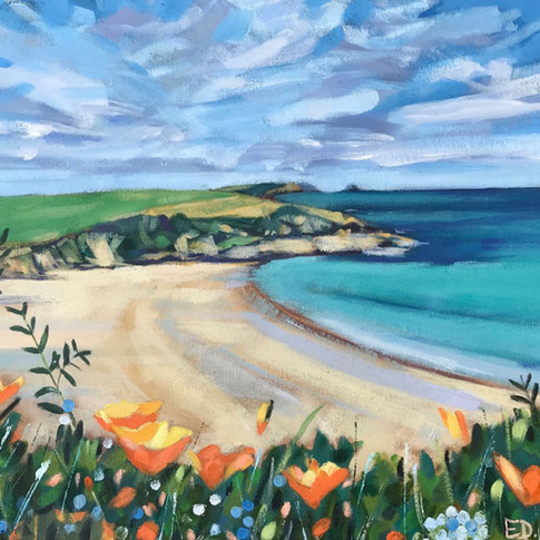 Overlooking Porthcurnick Beach (Sold)