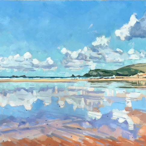 Reflections In The Sand, Treyarnon Bay (Sold)