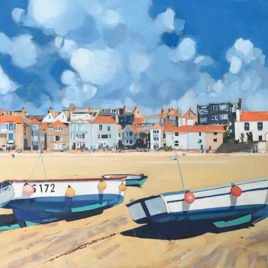 Beached Boats, St Ives (Sold)