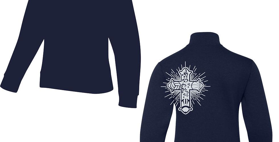 ® NuBlend® 1/4-Zip Cadet Collar Sweatshirt
