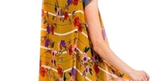 Floral With Stripe Summer Breeze Vest