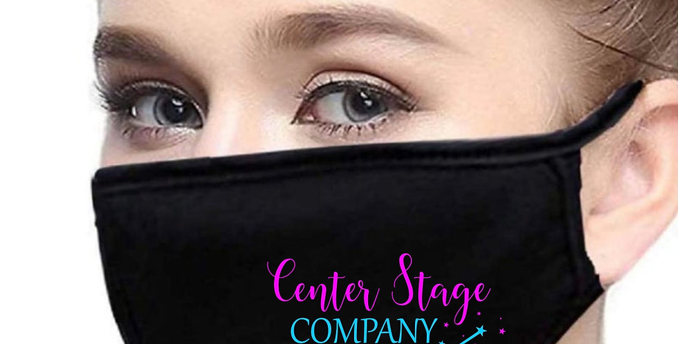 "Adult Face Mask with Center Stage ""Company"" logo"
