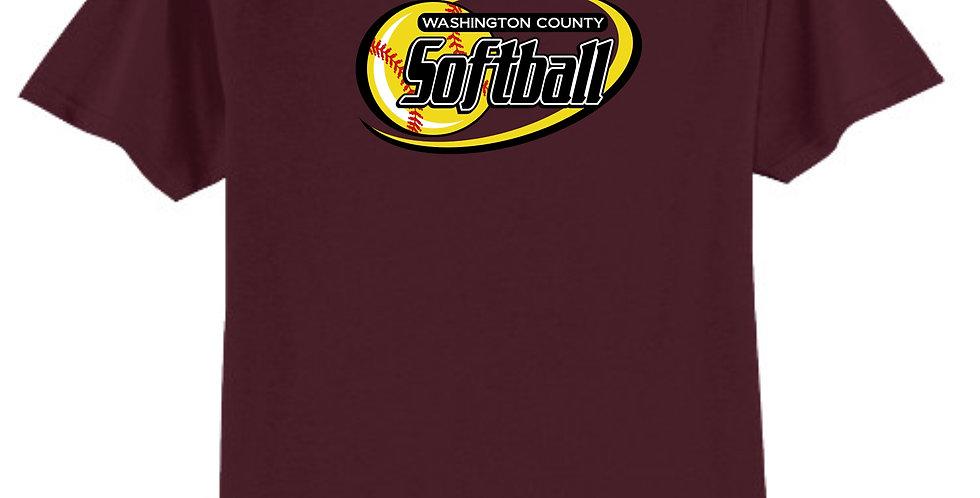 Softball-Adult Core Blend Tee Short Sleeve