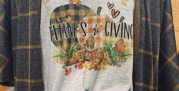 """THANKS & GIVING"" Tee"