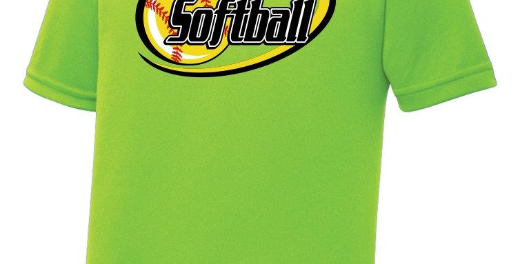 Softball-Youth RacerMesh® Tee Short Sleeve
