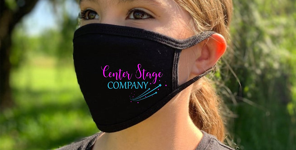 "Kids Face Mask with Center Stage ""Dance Studio"" logo"