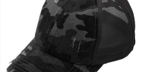 C.C Criss Cross Pony Cap-Camo