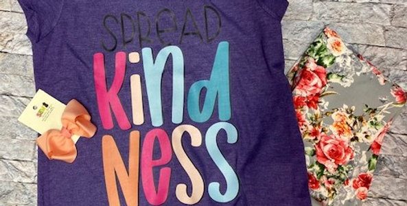 """Spread Kindness"" Girls Perfect Tri ® Tee"
