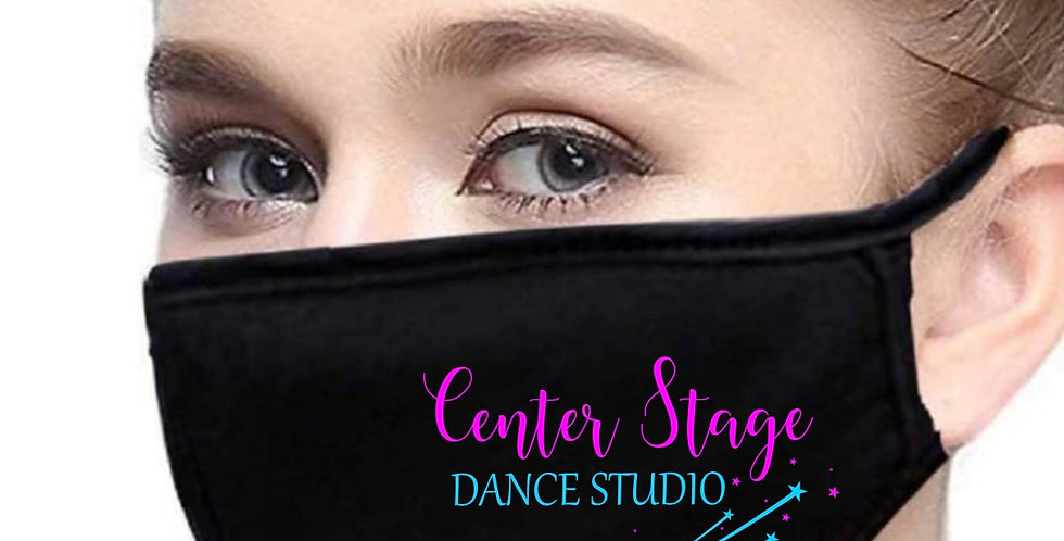 """Adult Face Mask with Center Stage """"Dance Studio"""" logo"""