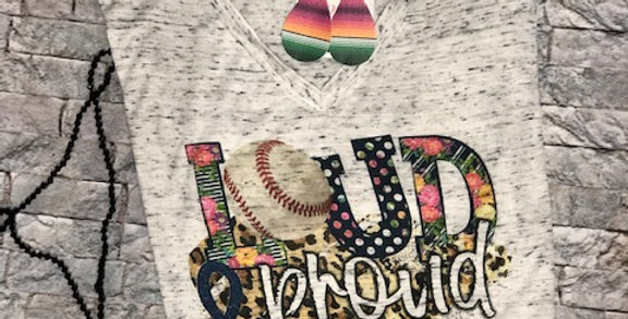"""Loud & Proud"" Bella + Canvas Vintage Vneck Tee"