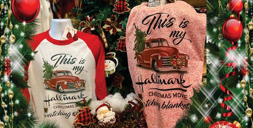 """This is my ""Hallmark"" Christmas movie watching Blanket"