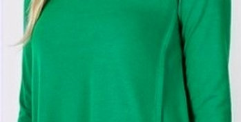 PLUS PREMIUM RAYON 3/4 SLEEVE WITH SIDE BUTTON TOP