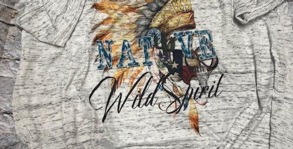 """""""Native Wild Spirit"""" Bella + Canvas Vintage Tee"""