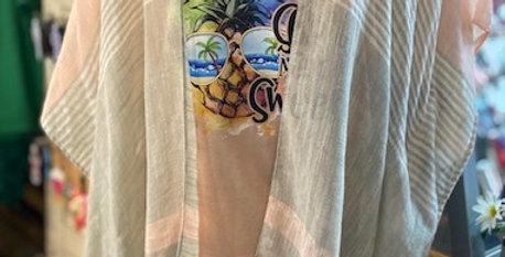 Peach/Gray Kimono