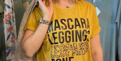Mascara,Leggings,LEOPARD TEE