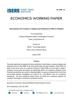 ปัจจัยหรืออุปสรรคที่ขัดขวางการปรับตัวรับการดำเนิน ธุรกิจแนว E-commerce และการใช้ประโยชน์ โดยกลุ่มธุรกิจขนาดกลางและขนาดย่อมในประเทศไทย