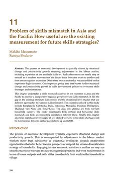 ปัญหาความไม่สอดคล้องระหว่างทักษะของแรงงานกับทักษะที่ต้องใช้ในโลกการทำงานในทวีปเอเชียและแปซิฟิก : ระบบการวัดผลที่มี อยู่ในปัจจุบันมีประโยชน์ต่อการวางกลยุทธ์ทักษะในอนาคตอย่างไร