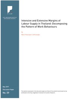 การจำแนกรูปแบบของพฤติกรรมการทำงาน : การตัดสินใจเลือกทำงานและการเพิ่มชั่วโมงในการทำงานของอุปทานแรงงานไทย
