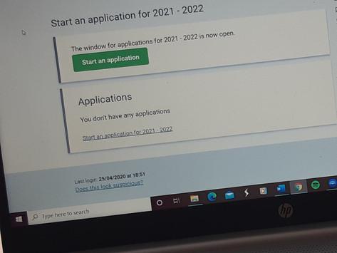SAAS funding deadline for 2020/21 is next week