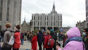 Pre-COP protest draws crowds in Aberdeen