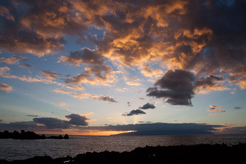 Cloud Sunset sky over a lake
