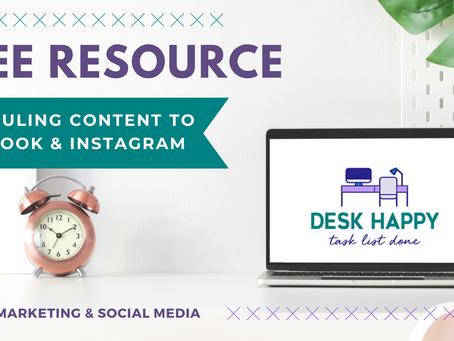 Scheduling Content to Facebook & Instagram