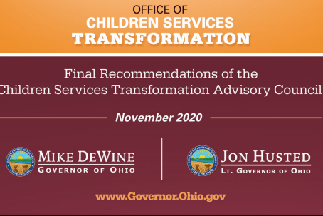 Groundwork Ohio Praises Children Services Transformation Advisory Council's Final Report