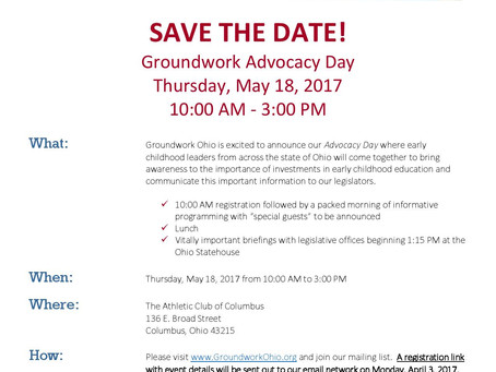 SAVE THE DATE! Advocacy Day 5.18.17
