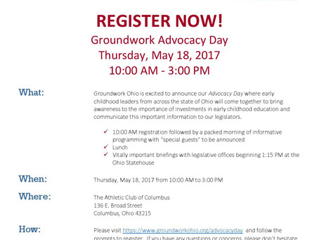 REGISTER NOW for Advocacy Day!