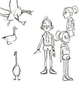 Goose Chase Character Designs