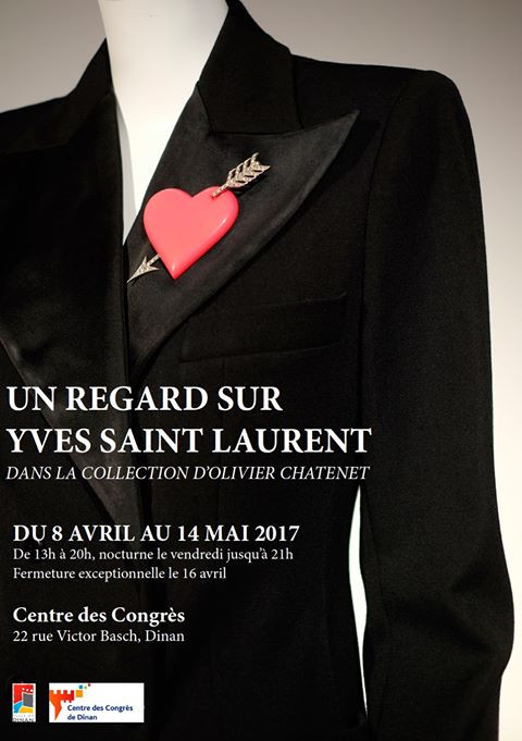 EXPOSITION « UN REGARD SUR YVES SAINT LAURENT, DANS LA COLLECTION D'OLIVIER CHÂTENET »