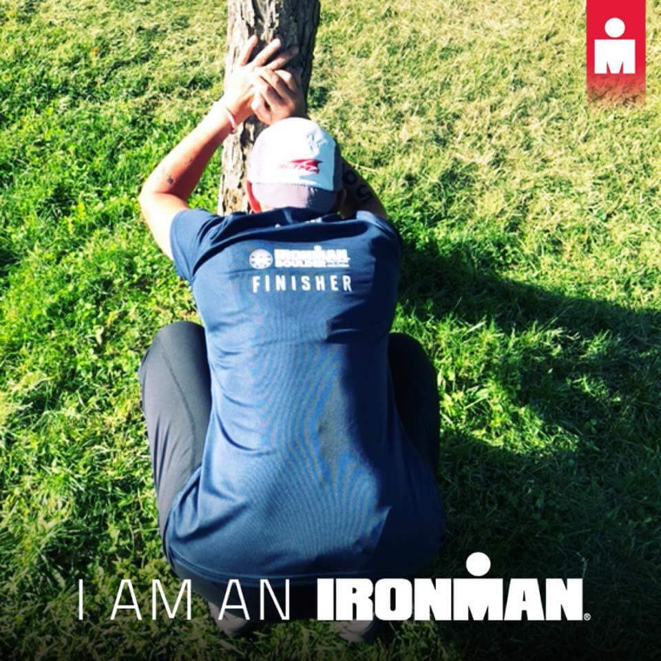 Andrea still suffering with stomach issues the day after Ironman Boulder 2018