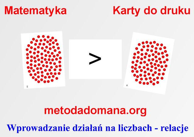 Matematyka Metodą Domana karty do druku Metoda Domana w matematyce Matematyka intuicyjna
