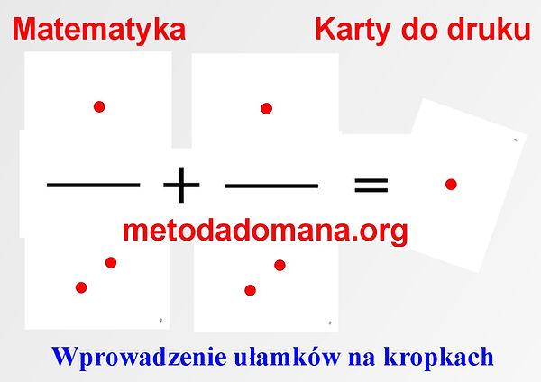 Matematyka_MetMetoda Domana Matematyka karty do druku