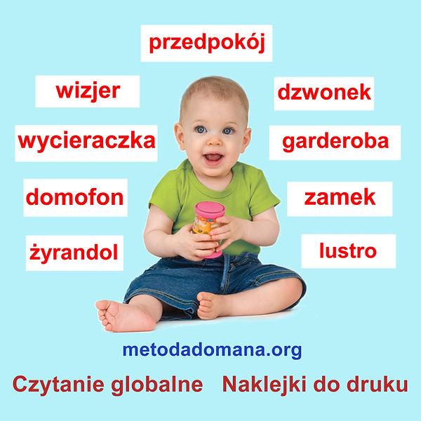 Czytanie globalne Metodą Domana Naklejki i etykiety do druku Wczesna edukacja Metoda Domana