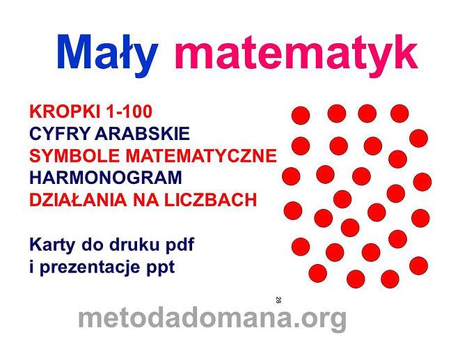 Metoda  Domana Matematyka karty do druku