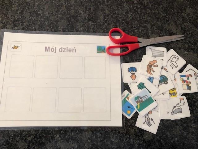 Metoda Domana i Montessori - harmonogram obrazkowy