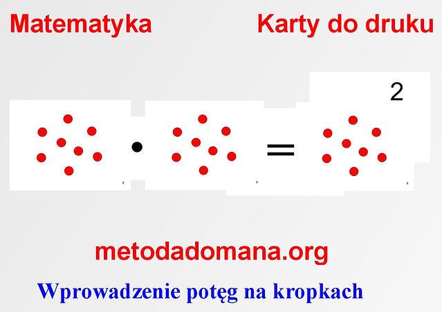 Metoda Domana karty do nauki matematyki do druku Metoda Domana | Matematyka intuicyjna