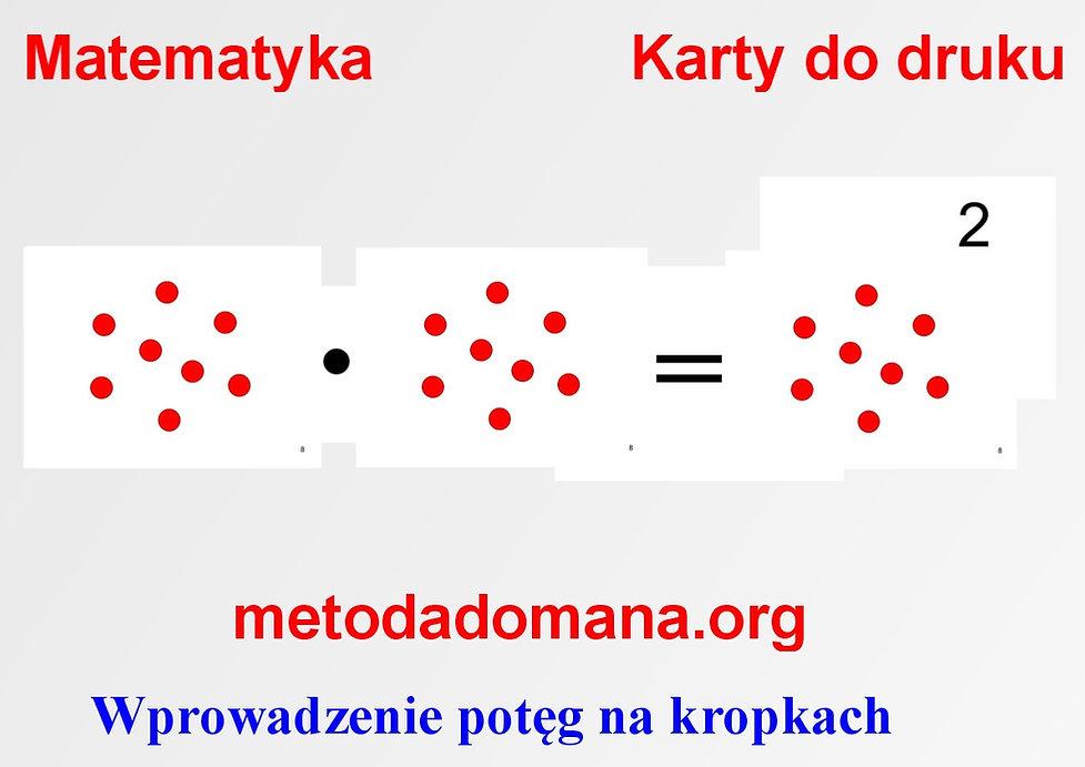 Metoda Domana matematy karty do nauki matematyki do druku pdf Wczesna edukacja Metoda Domana