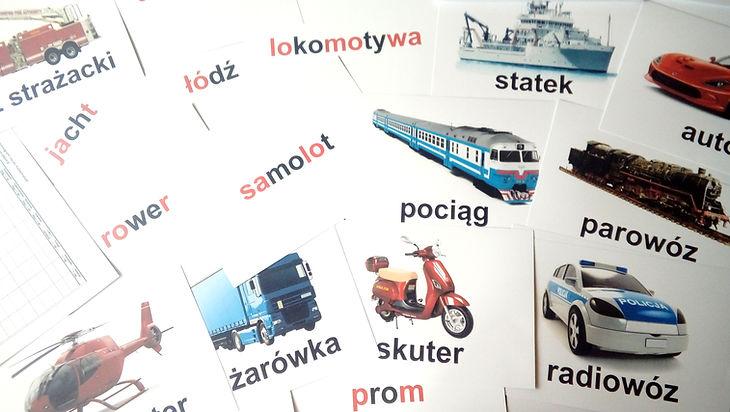 Wczesna edukacja karty obrazkowe Metoda Domana Zestaw do nauki czytania P