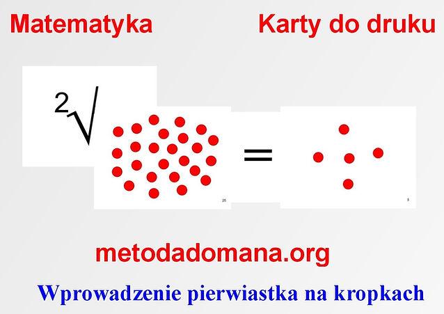 Matematyka Metodą Domana karty do druku Harmonogram_matematyki Metodą Domana Metoda Domana | Matematyka intuicyjna