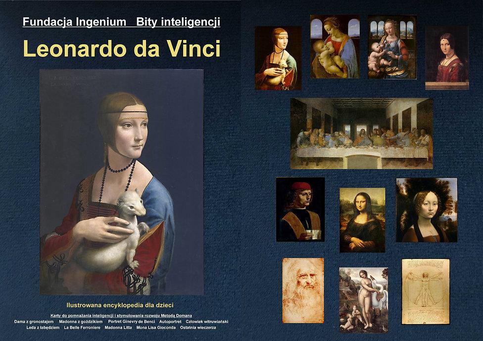 Bity inteligencji flashcards Arcydzieła Leonarda da Vinci karty do pobrania