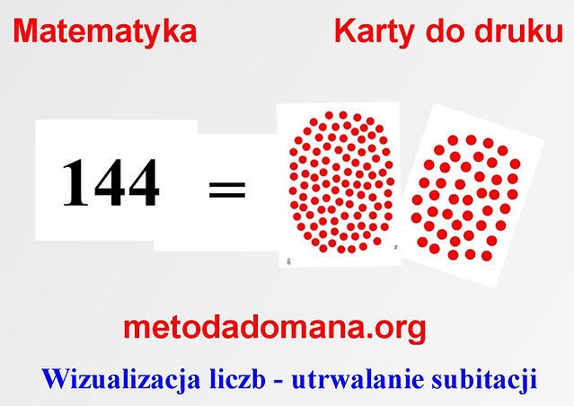 Metoda Domana Matematyka karty do druku Matematyka Metodą Domana utrwalanie subitacji   Metoda Domana | Matematyka intuicyjna