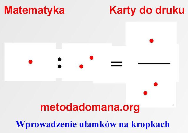 Matematyka Metodą Domana Harmonogram Matematyka Metodą Domana karty do druku Metoda Domana | Matematyka intuicyjna