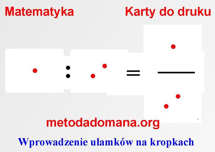 Karty do nauki matematyki Metodą Domana pdf Metoda Domana | Matematyka intuicyjna