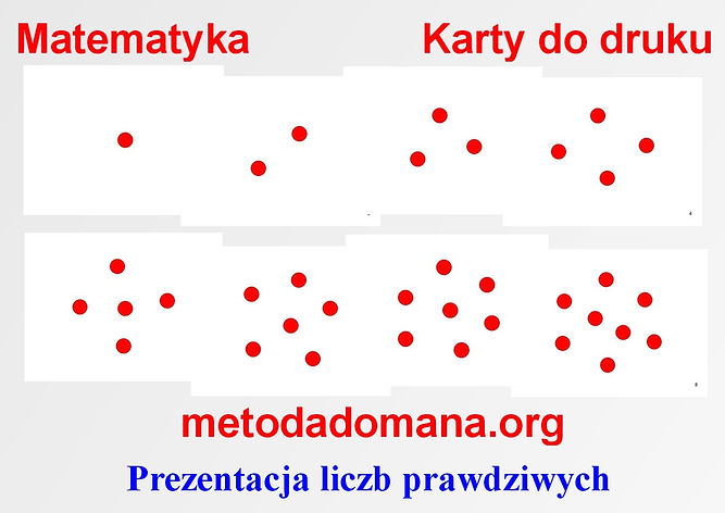 Matematyka Metodą Domana karty do druku Matematyka intuicyjna