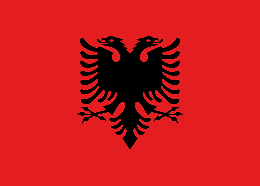 Bity Inteligencji Państwa Europy Flaga Albanii