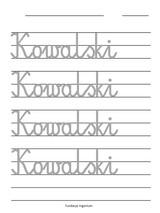 Metoda Domana Karty pracy Nauka pisania